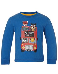 My Design Animal Bus T-shirt BB | Blue | Monsoon