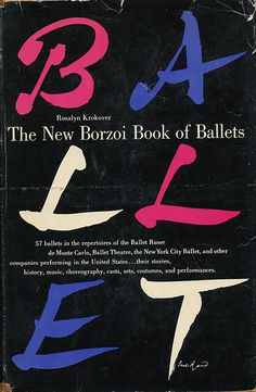 The New Borzoi Book of Ballets cover by Paul Rand