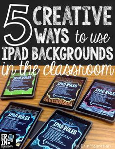 Using iPad backgrounds to reinforce classroom and technology expectations.
