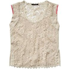 Scotch & Soda Fancy Bohemian Lace Top ($220) ❤ liked on Polyvore