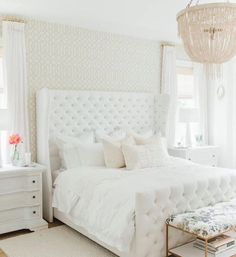 Step inside Monika Hibbs dreamy white bedroom redesign with us today! Home Interior, Interior Design, Asian Home Decor, My New Room, Beautiful Bedrooms, Home Decor Inspiration, Decor Ideas, Decorating Ideas, Traditional Decor