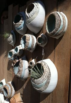 Pinch pots for air plants.