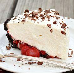 Irresistible White Chocolate Mousse Cherry Pie | TheBestDessertRecipes.com