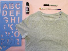diy graphic tee supplies I never thought of using acrylic paint!
