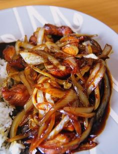 Kitchen Recipes, Cooking Recipes, Asian Recipes, Healthy Recipes, Pork Dishes, Easy Food To Make, Food Design, Love Food, Food And Drink