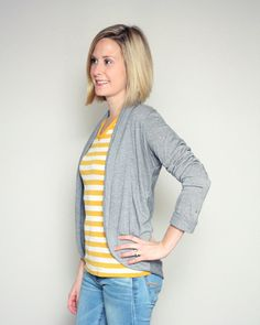 The Julia Women's Cardigan | The best sewing patterns for women, girls, toys and more. Go To Patterns & Co.