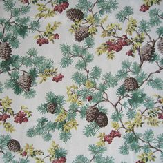 Pine Cone Fabric Natural - Whispering Pines Catalog