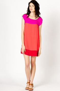 Pretty color-blocked dress