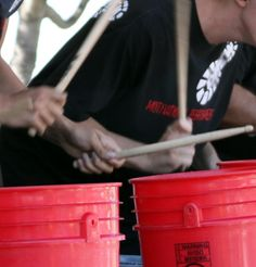 Drumming with buckets can sound Amazing! www.corporatebash.co.uk