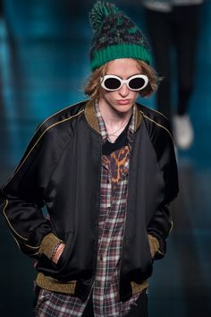 Saint Laurent Hedi Slimane varsity jacket, plaid checked shirt, LA, Rock N Roll