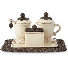 GG Collection Creamer & Sugar Set featuring polyvore, home, kitchen & dining, serveware and gg collection