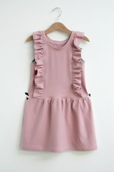 DIY - sew - jersey dress with ruffles - own pattern
