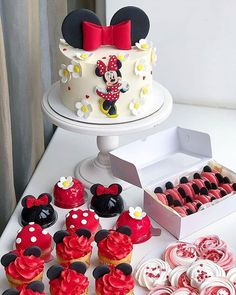 Cake world added a new photo. Minnie Mouse Birthday Decorations, Minnie Mouse Birthday Cakes, Mickey Cakes, Baby Birthday Cakes, Mickey Birthday, Pastel Mickey, Bolo Minnie, Beautiful Birthday Cakes, Fantasy Cake