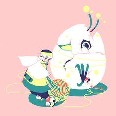毛糸サッカー  「グラウンドいっぱいのセーター編んじゃえ!」    (C)toosato (Chihiro Ikeda)
