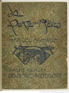 Interior, title page, «La Porte des rêves», par Marcel Schwob. Illustrations de Georges de Feure