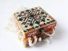 Wooden Jewelry Box   Christmas Jewelry box  by ArtKaleydoskop2015