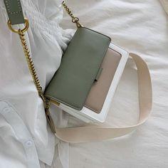 Contrast color Leather Crossbody Bags For Women 2019 Travel Handbag Fashion Simple Shoulder Messenger Bag Ladies Cross Body Bag – Top Daily Trends Soft Leather Handbags, Leather Crossbody Bag, Clutch Bag, Crossbody Bags, Travel Handbags, Fashion Handbags, Simple Bags, Wash Bags, Purses And Bags