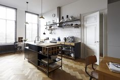 Love this masculine style by interior architect Stef Bakker