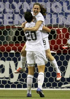2 of the best players on the #1 women's soccer team in the world. USA!