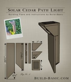 build this simple diy path light with a few pieces of cedar and an inexpensive solar light buildbasic diy freeplans woodworking howto tutorial build easy diy lighting