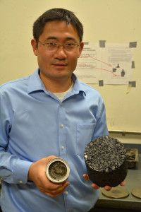 """CHEMISTRY: WSU researcher creates cooking-oil based 'bioasphalt'. """"We are shooting for summer 2014 to construct a trial road—probably at least a quarter mile long."""""""