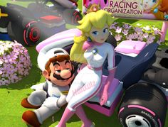 After a long day of racing Mario and Peach , stop by and take some rest. *Also heres is the alt version with Peach default hair. Super Mario Bros, Super Mario Games, Super Mario Brothers, Super Smash Bros, Peach Mario, Mario And Princess Peach, Mario And Luigi, Mario Kart, Mario Comics