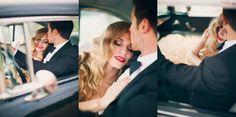 im Hochzeitsauto...