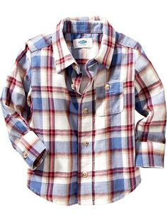 Plaid Flannel Shirt for Baby Product Image