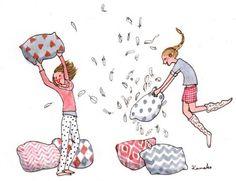 Resultado de imagem para pinterest ilustração amizade