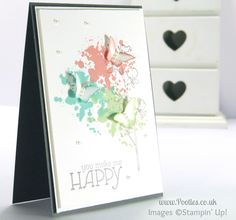 Stampin' Up! UK Independent Demonstrator Pootles - Gorgeous Grunge Bitty Butterflies Card Tutorial