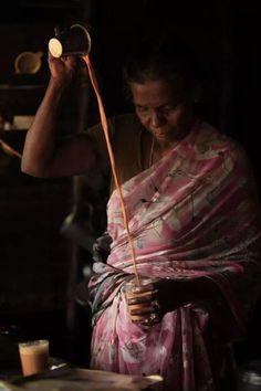 The Chai Lady - House of Bohemian Indian Milk, Starbucks Art, Masala Tea, The Chai, Kerala India, South India, Amazing India, Tea Culture, Tea Art