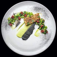 """1,742 Likes, 5 Comments - Linking the Culinary World (@cookniche) on Instagram: """"Sheep's curd baklava, sujuk sausage, broad bean, burnt aubergine, bee pollen by @cheftimkewley ⭐️…"""""""