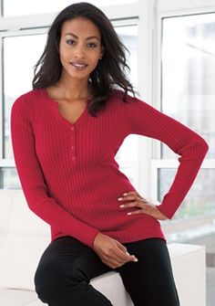 The most comfortable sweaters I own!  http://www.jessicalondon.com/clothing/Henley-Sweater-in-Ribbed-Cotton.aspx?PfId=189549=10519=1