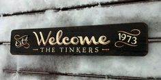 A vintage wintry welcome...