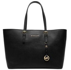 Michael Kors Women Jet Set Jewel Small Travel Tote Black Patent NEW Purse in Clothing, Shoes & Accessories, Women's Handbags & Bags, Handbags & Purses | eBay