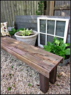 ok this is super easy - Pallet Garden Bench