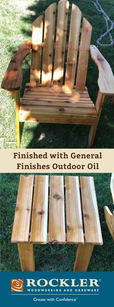 Woodworking Projects General Finishes Outdoor Oil - Use this exterior-rated penetrating linseed oil with UV stabilizers and mildew prohibitors to protect your outdoor wood projects. Easy Small Wood Projects, Outdoor Wood Projects, Outdoor Wood Furniture, Wood Projects That Sell, Wood Projects For Beginners, Diy Wood Projects, Furniture Ideas, Outdoor Pallet, Woodworking Bench Plans