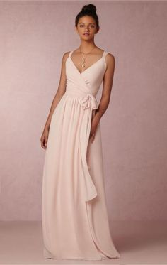 Designer Light Pink Long Bridesmaid Dress BNNDE0000-Bridesmaid UK