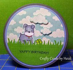 Mama Elephant: Playful Pups Crafty Cards by Heidi