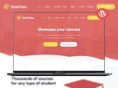 EduPrime - Education & LMS WordPress Theme by ModelTheme Secondary School, Wordpress Theme, University, Education, Upper Elementary, Middle School, Educational Illustrations, Learning, Community College