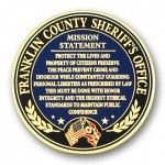 Franklin Co. Sheriff's Office Mission Statement 2D Coin