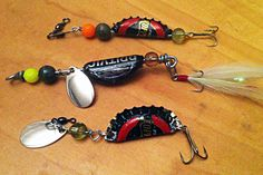 Make Fishing Lures out of Bottle Caps Aluminum bottle caps can make for excellent fishing lures, and fashioning them only takes a few minutes. You can customize their size, color and make t...