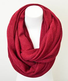 Burgundy Infinity Scarf | Daily deals for moms, babies and kids