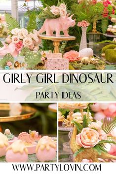 I love the fun girly twist on your typical boy themed dino party! All the ideas here are fabulous! Every detail is just adorable. This Girl Dino Party is stomping in, for all girls to adore! 3rd Birthday Party For Girls, Girl Birthday Themes, Fourth Birthday, Themed Birthday Parties, Dinasour Birthday, Girl Dinosaur Birthday, Dinosaur Party, Festa Party, Girly Girl