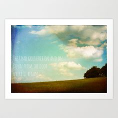 the road goes ever on Art Print by Sybille Sterk - $17.68