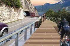 Un unico itinerario di 140 km dedicato al cicloturismo lungo le sponde del Lago di Garda