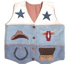 Country Western Vest Women's Size Small, Machine Embroidered, Reversible, Has Pockets Inside & Out #WesternVest at JustLuvTreasures.com