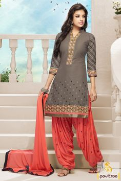Terrific orange santoon embroidery patiala salwar suit will provide you fashionable look with chic embroidery designs, golden lace and trendy patiala.  #pavitraa, #salwarsuits, #anarkalisalwarsuits, #designerdresses, #partyweardresses, #salwarkameez, #lehengasuits, #bollywooddresses, #onlinesuit, #cottondresses, #patiyalasuits, #formaldress