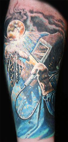 welding tattoos | Off the Map Tattoo : Tattoos : Portrait : Welder