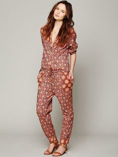 Maison Scotch Mixed Florals Jumpsuit